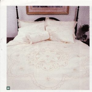 Queen Anne Lace Starburst Punchwork embroidered duvet cover & shams