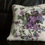 Periwinkle Blue Woolen Needlepoint Tapestry cushion cover.