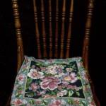 Monet Midnight Blue Woolen Needlepoint Tapestry pillow cover.