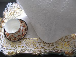 Elegant All over Solid Battenburg Lace Tea Cozy with lace trim Victorian style for large size teapot