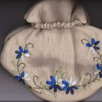 Linen Ribbon Art embroidered Tea Cozy elegant Victorian afternoon tea.