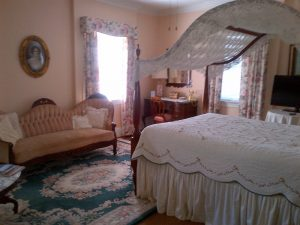 Hand Crocheted Windmill Crochet Lace Bed Cover Canopy at Virginia Cliff Inn