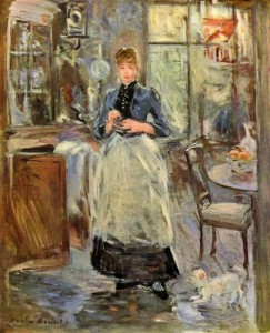 The use of aprons captured in art.