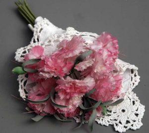 Wedding Bridal Flower Bouquet Lace Wrap White Cotton Crochet Lace trim Napkin 12 square
