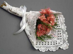 Wedding Bridal Flower Bouquet Lace Wrap White Cotton Snowflake Crochet Lace Doily 10 square