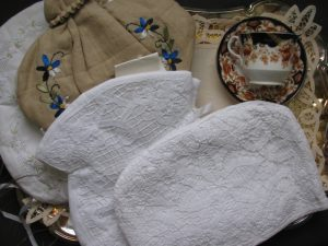 Exquisite collection of tea cozies from The Lace And Linens Co. adds finese to the Art of Tea!