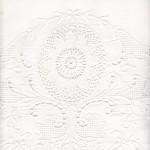 Fine Crochet Lace edged & crochet medallions top sheet
