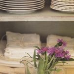 Cotton Napkins on an open shelf adds wonderful decor & warmth to a home.